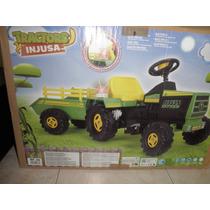 Tractor Eléctrico Con Remolque - Para Niños