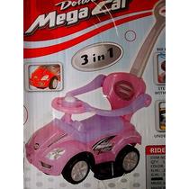 Carro Montable Mega Cars De Luxe 3 En 1 Para Niñas