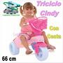 Triciclo Cindy A Pedal Para Niñas Regalo Navidad Sin Cesta