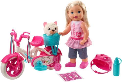 veículo e boneca  37cm  little mommy  meu primeiro passeio