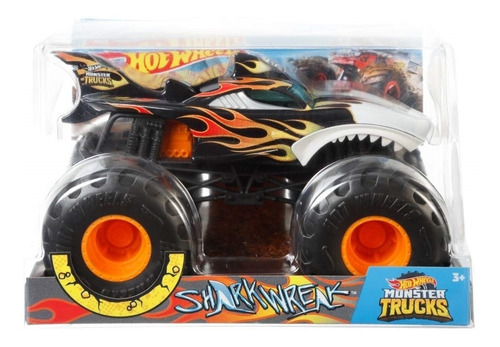 veiculo hot wheels monster trucks shark wreak mattel fyj83