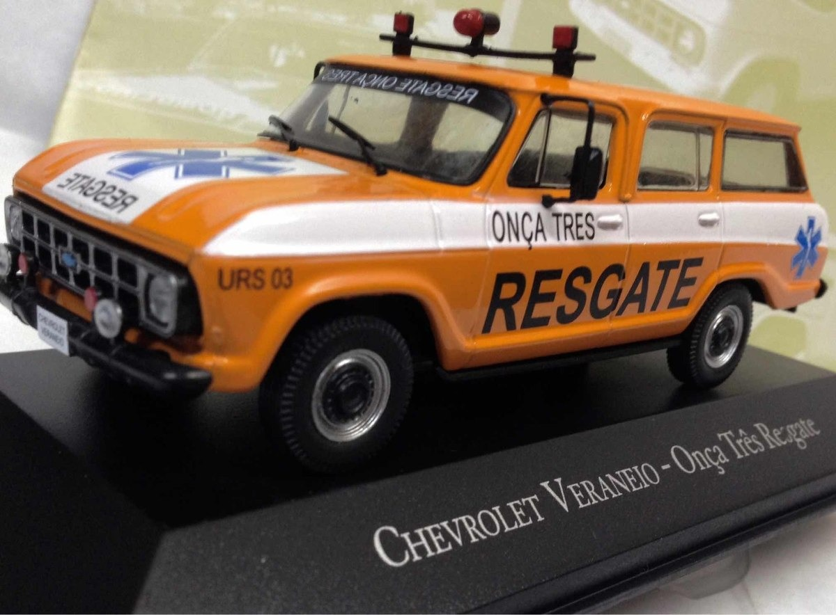 Ixo 1//43 Chevrolet Veraneio Onca Tres Resgate Orange