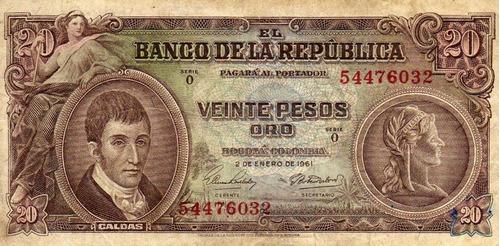 veinte pesos caldas