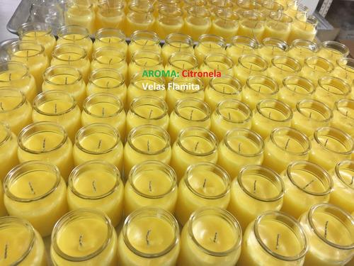 vela aromática 100ml canela, citronella, limón, gardenia, et