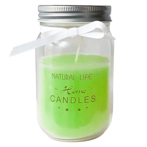 vela aromática natural frasco de vidrio con tapa oferta loi