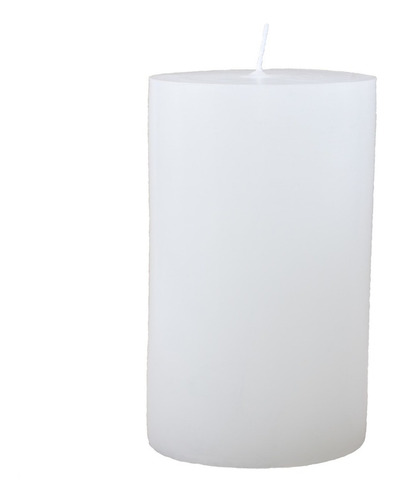 vela artesanal cilíndrica branca pilar grande 12x19,5cm