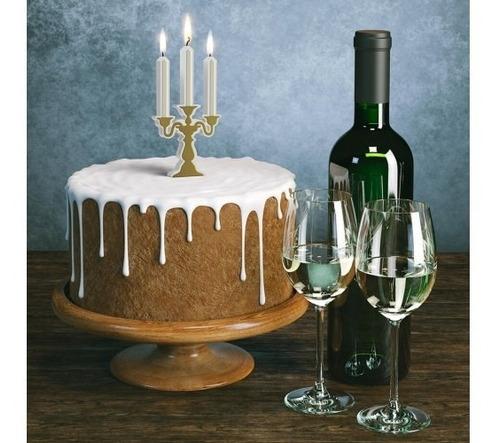 vela birthday candelabra