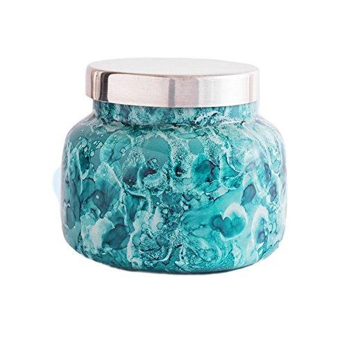 vela capri blue signature volcano en tarro de cristal de acu