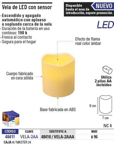 vela de led con sensor voltech 48411