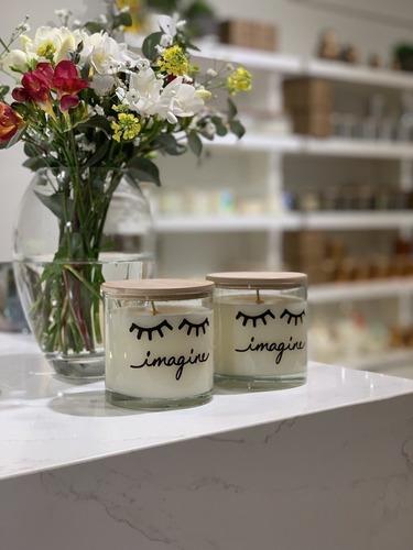 vela de soja imagine love this candle