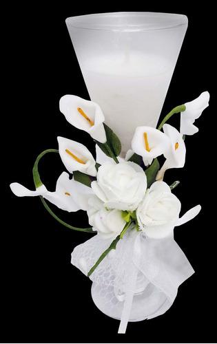 vela decorativa mini 15 anos festa flor enfeite 24 unidades
