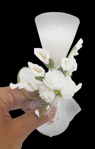 vela decorativa mini 15 anos festa flor enfeite 48 unidades