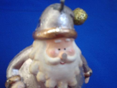 vela decorativa santa claus de navidad usada