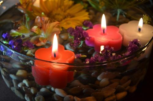 vela flotante en forma de flor 25 piezas aluzza