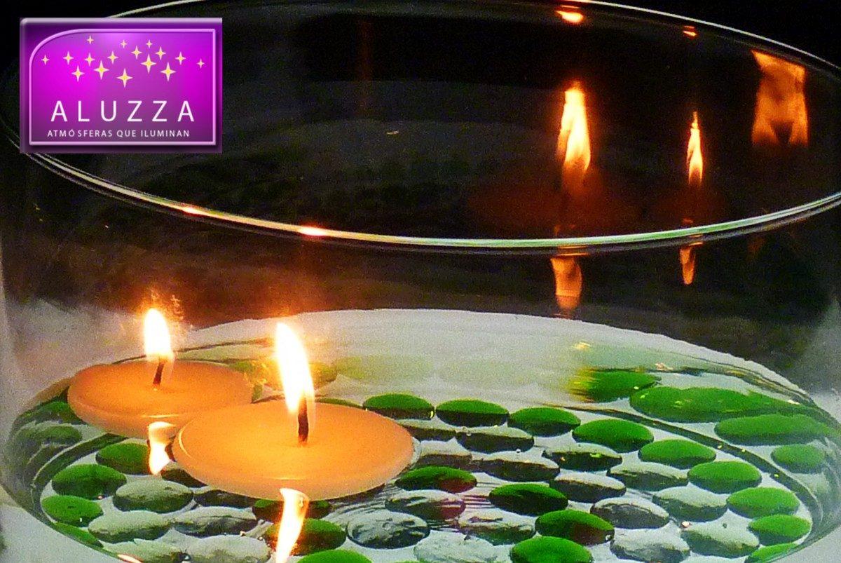 Vela flotante para centro de mesa de boda aluzza rm4 - Velas centro de mesa ...