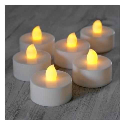 vela led branco quente decoração festa - baterias inclusas
