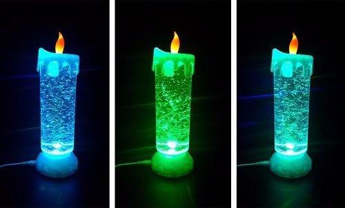 vela led luminária recarregável via usb e pilha veja o video