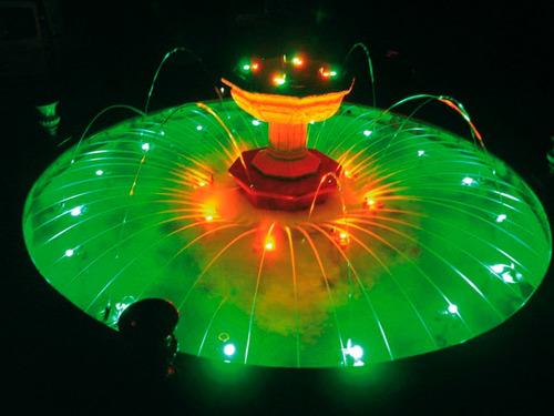 vela led sumergible rojo, verde, azul o amarillo centro mesa