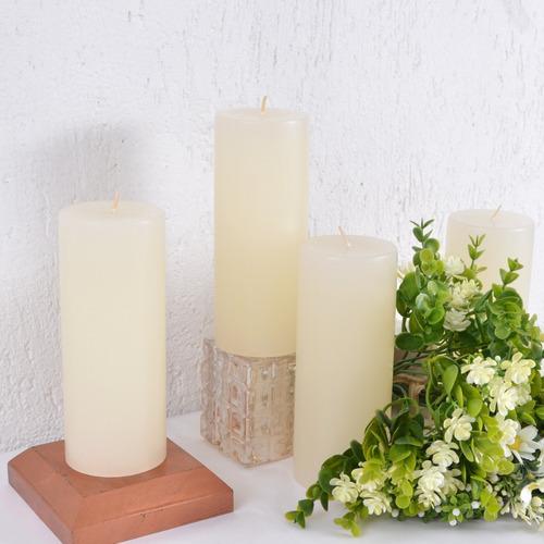vela litúrgica altar advento marfim 7x17cm caixa 4 unidades
