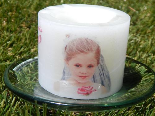 vela personalizada 65mm recuerdo boda bautizo xv  comunion