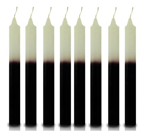 vela quilo palito branco e preto 1 kg 28 velas coloridas