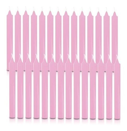 vela quilo palito rosa claro 1 kg 28 velas coloridas