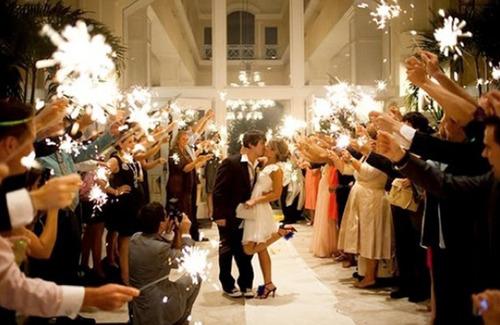 vela sparkler casamento  2,5 minutos 60 cm - 5 kits = 25 uni