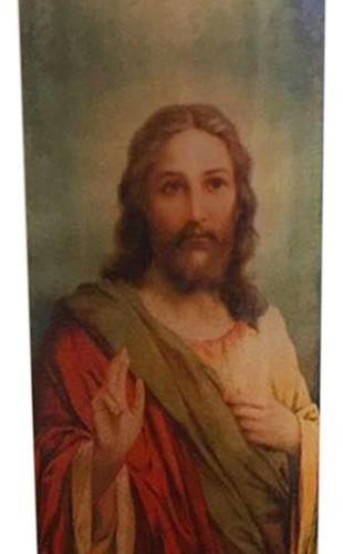 vela votiva 7 dias imagem jesus cristo