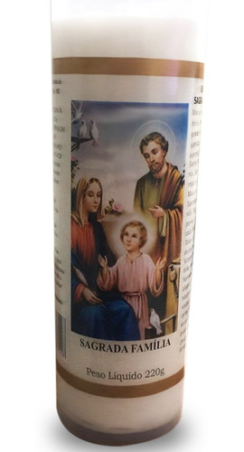 vela votiva 7 dias imagem sagrada família