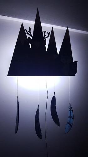 velador bebe.luz de noche. led nordico animalitos del bosq