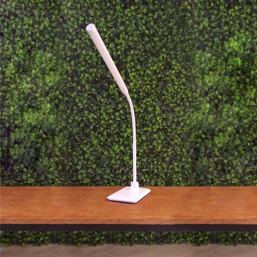 velador brazo flexible mesa 5w blanco luz movil blanco negro