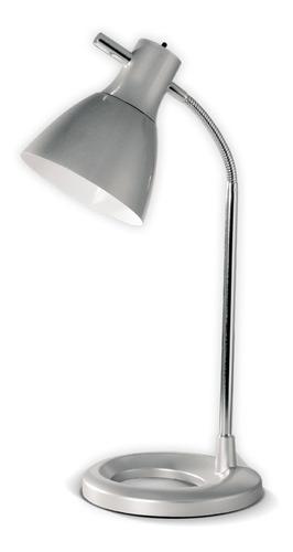 velador bri gris lampara de mesa escritorio led diseño