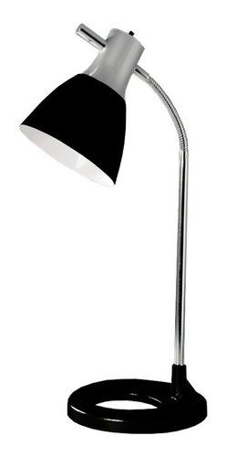 velador bri negro lampara de mesa escritorio led diseño
