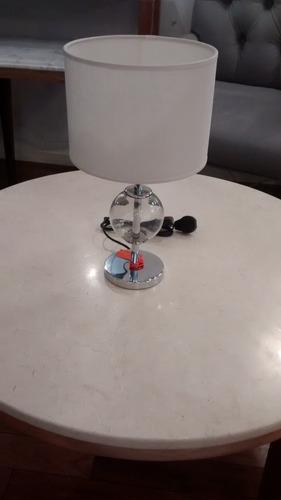 velador cromo globo