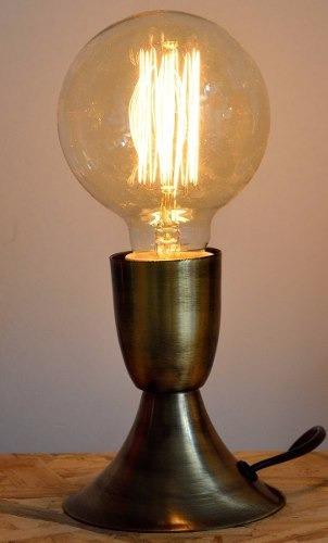 velador edison retro vintage 1 luz mas edison led 25w