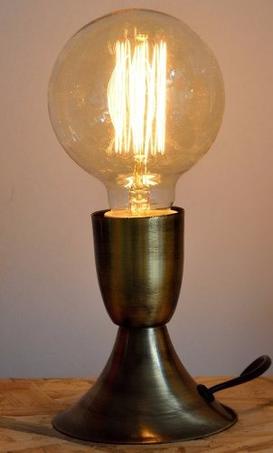 velador edison retro vintage 1 luz mas edison y dimmer