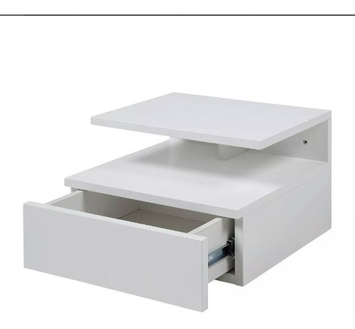 velador flotante de melamina - mesa de noche, muebles oferta