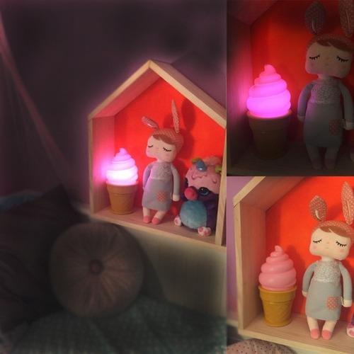 velador infantil luz de la noche helado (pilas incluidas)