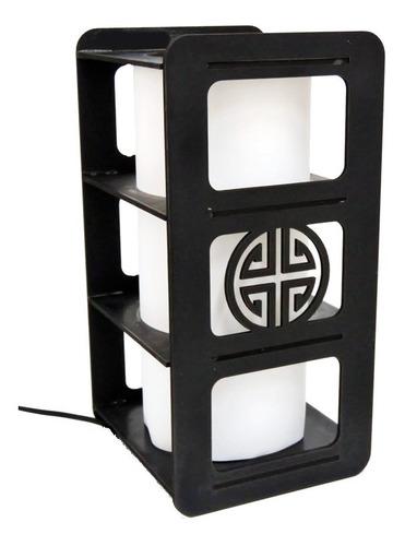 velador lampara chino moderno c/ pantalla en 7 colores