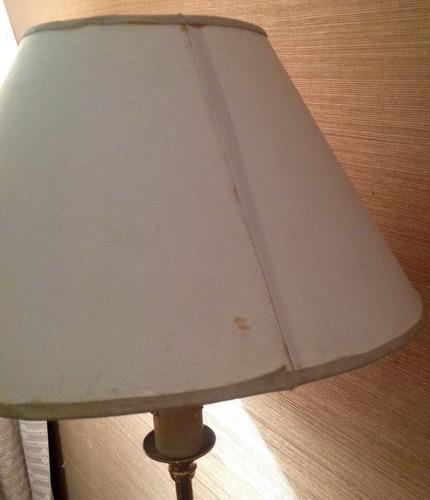 velador lampara de bronce