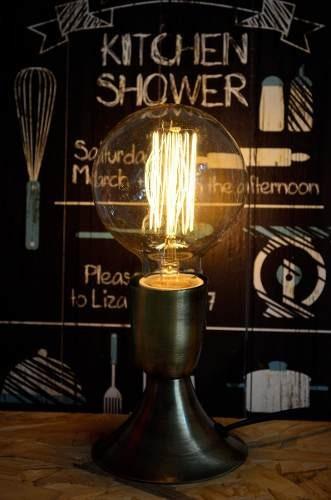 velador lampara edison retro vintage 1 luz mas edison