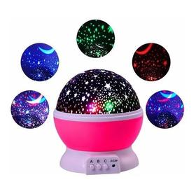 Velador Lampara Luz De Noche Proyector De Estrellas Infantil Luces Y Colores