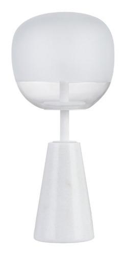 velador lampara mesa gemis blanco led integrado leuk cuotas