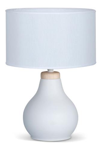 velador lampara mesa pantalla deco led mari blanco negro