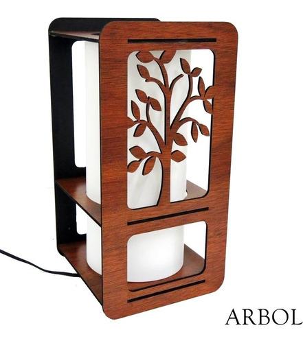 velador lampara moderno c/ pantalla en 7 colores p/ elegir