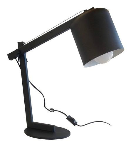 velador lampara negro tacho chico escritorio cuotas