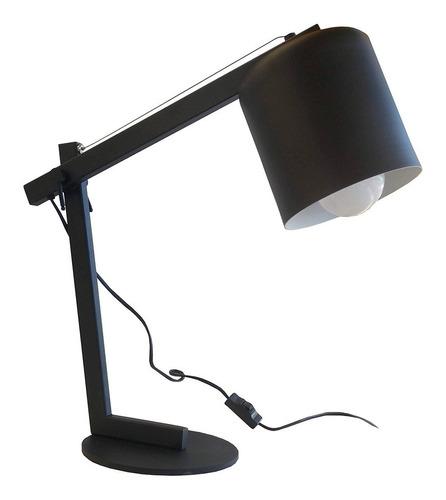 velador lampara negro tacho chico escritorio vintage textura