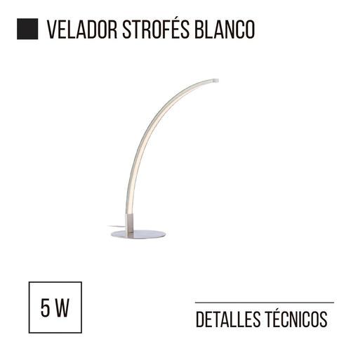 velador lampara strofes blanco led integrado 5w leuk diseño