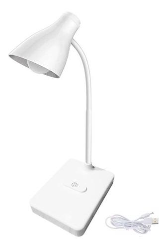 velador led touch lampara bombita carga usb inalambrica 360