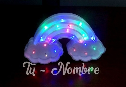 velador luces led 30 cm - polyfan letras figuras unicornio